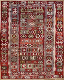 R7359 Antique Aydin Turkish Kilim Rug