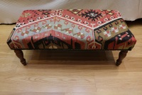 R5951 Antique Bench Kilim Stools