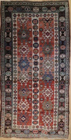 R4813 Antique Caucasian Kazak Rug