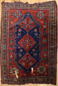 R5358 Antique Caucasian Kazak Rug