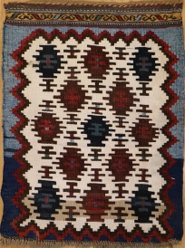 F754 Antique Kazak Kilim