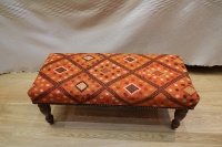 Antique Kilim Bench Table Stool R5204