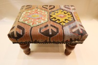 R7014 Antique Kilim Footstool