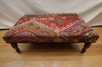 R4739 Antique Kilim Ottoman Stool Table