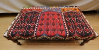 R4727 Antique Kilim Ottoman Stool Table
