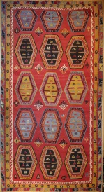 R8170 Antique Large Turkish Kilim Rug