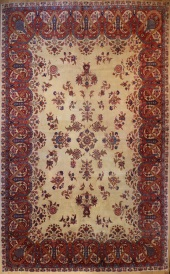 R6052 Antique Persian Kerman Carpets