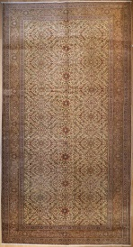 R4122 Antique Persian Tabriz Carpet