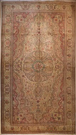 R3911 Antique Persian Tabriz Carpet