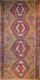 R5553 Antique Sivas Turkish Kilim Rug
