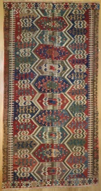 F970 Antique Turkish Aydin Kilim Rug
