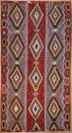 R7646 Antique Turkish Esme Kilim Rugs in London