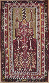R7623 Antique Turkish Kayseri Kilim Rug