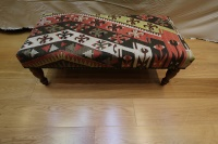 R4094 Antique Turkish Kilim Bench Stools