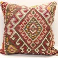 XL433 Antique Turkish Kilim Cushion Cover