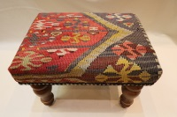 R7740 Antique Turkish Kilim Footstools