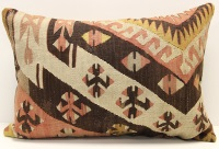 D51 Antique Turkish Kilim Pillow Cover