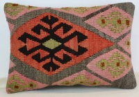 D222 Antique Turkish Kilim Pillow Cover
