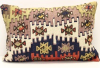 D281 Antique Turkish Kilim Pillow Cover