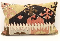 D287 Antique Turkish Kilim Pillow Cover
