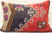 D288 Antique Turkish Kilim Pillow Cover