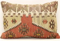 D295 Antique Turkish Kilim Pillow Cover