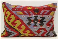 D296 Antique Turkish Kilim Pillow Cover
