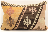 D232 Antique Turkish Kilim Pillow Cover