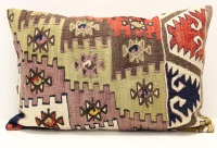 D398 Antique Turkish Kilim Pillow Cover