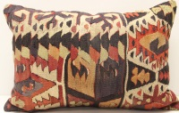 D422 Antique Turkish Kilim Pillow Cover