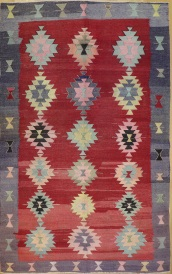 R8910 Antique Turkish Kilim Rug