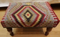 R4721 Antique Turkish Kilim Stool