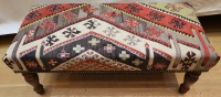 R7733 Antique Turkish Kilim Stool
