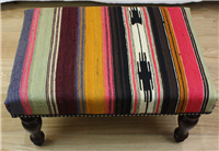 R7736 Antique Turkish Kilim Stool