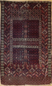 R7566 Antique Turkmenistan Ensi Rug