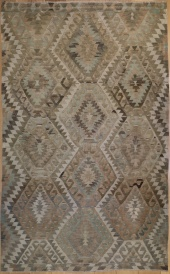 R5854 Antique Ushak Turkish Kilim Rug