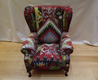 R9332 Antique Wing Kilim Chair