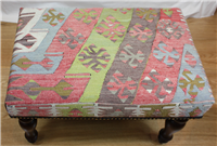 R7738 Beautiful handmade Village Kilim Stool