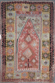 Beautiful Vintage Turkish Kilim Rug R7537
