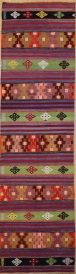 R9176 Flat Weave Turkish Kilim Rug Runner