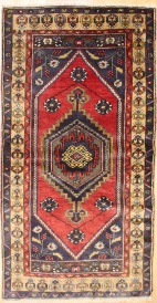 R8780 Gorgeous Vintage Turkish Yahyali Rugs
