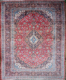 R6950 Vintage Kashan Persian Carpet