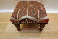 R4080 Kilim Covered Footstools