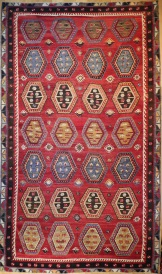 R8566 Large Antique Turkish Kilim Rugs