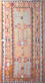 R6815 Antique Turkish Obruk Kilim