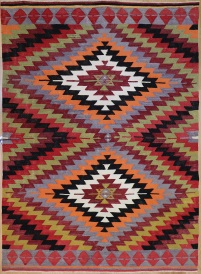 R3517 old Turkish Afyon Kilim