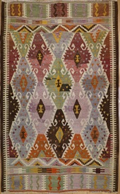 R6813 Old Turkish Barak Kilim Rug