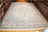 R8675 Persian Silk and wool Nain Carpets