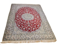 R9029 Persian Silk and wool Nain Carpets