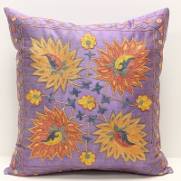 C6 Silk Suzani Cushion Cover